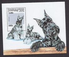 Cambodia, Scott #1740, Mint Hinged, Dogs, Issued 1998 - Cambodja