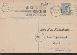 Kontrollrat P 962, Mit Stempel: Schwerin9.6.1948 Mit Reklame: Volksbegehren Volksentscheid Vom 23.5.-13.6.1948 - Gemeinschaftsausgaben