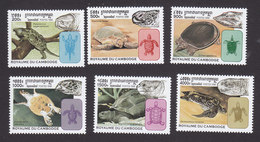 Cambodia, Scott #1765-1770, Mint Hinged, Turtles, Issued 1998 - Cambodge