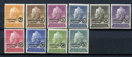 1958 - CHRISTMAS ISLAND - Catg. Mi. 1/10 - LH - (R-SI.331.713 - 11) - Christmas Island