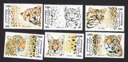 Cambodia, Scott #1782-1787, Mint Hinged, Wild Cats, Issued 1998 - Cambodge
