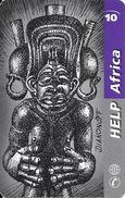 Prepaid: Télésonique - Help Africa, Statue Diakonoff. Serial Number Small - Schweiz