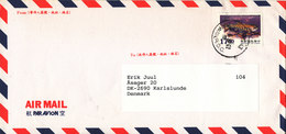 Taiwan Air Mail Cover Sent To Denmark 19-4-1999  Single Franked FISH - 1945-... Republic Of China
