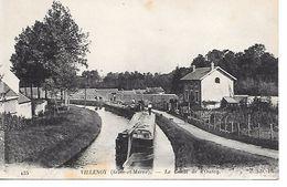 """77 VILLENOY  BELLE CPA 191? """"PENICHE SUR LE CANAL DE L'OURCQ ET LA MAISON DU GARDE CANAL"""" - Hausboote"""
