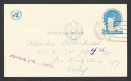 United Nations - Scott #UX1 Used - Postcard - New-York - Siège De L'ONU