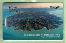 New Zealand - 1993 Christchurch Phonecard Expo - $5 Banks Peninsula - NZ-E-5 - Mint - Nueva Zelanda