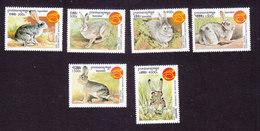 Cambodia, Scott #1790-1795, Mint Hinged, New Years, Year Of The Rabbit, Issued 1999 - Cambodge