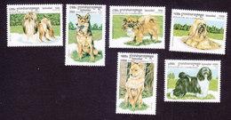 Cambodia, Scott #1804-1809, Mint Hinged, Dogs, Issued 1999 - Cambodja