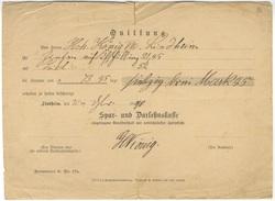 D273 Deutsche Reich 1890 Sehr Alter Bank Kontoauszüg Überweisung Spar- Und Darlehensbank Lindheim - Cambiali