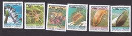 Cambodia, Scott #1839-1844, Mint Hinged, Molluscs, Issued 1999 - Cambodia