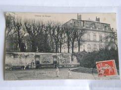 CPA Animée 95 , Ancien Château 17ème Siècle De GARGES LES GONESSES 1909 Mur Avec Fontaine - Garges Les Gonesses
