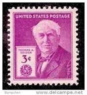 1947 USA Thomas A. Edison Stamp Sc#945 Historic Famous - United States