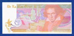 De La Rue Giori S.A. Varinota Beethoven Color Trial #05 - Specimen Test Note Unc - Specimen
