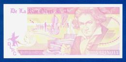 De La Rue Giori S.A. Varinota Beethoven Color Trial #06 - Specimen Test Note Unc - Specimen