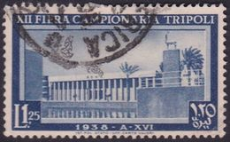 Italy-Colonies And Territories-Libya S 151 1938 12th Tripoli Fair,1,25 Lira Gray Blue,used - Libya