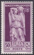 Italy-Colonies And Territories-Libya S 155 1938 Augustus Birth Bimillenary,50c Lilac,mint Hinged - Libya