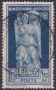 Italy-Colonies And Territories-Libya S 157 1938 Augustus Birth Bimillenary,1.25 Lira Light Blue Used JAin - Libya