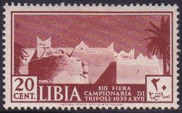 Italy-Colonies And Territories-Libya S 159 1938 13th Tripoli Fair,20c Red Brown,mint Hinged - Libya