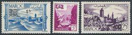 Fr Morocco  1954   3 Better MH*  2016 Scott Value $4 - Morocco (1891-1956)