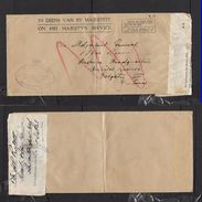 S.Africa, OHMS,  6TH BN1ST RESERVE BRIGADE OFFICIAL FREE PRETORIA Cachet On WWII Cover, Re-used - South Africa (...-1961)