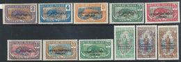 France / Middle Congo   1925-30   Sc#23-31, 33, 37, 43  11 Diff MH*    2016 Scott Value $7.60 - Französisch-Kongo (1891-1960)
