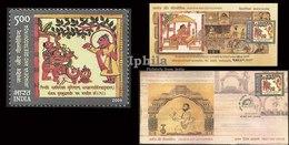 Buddha In Hindu Tradition Jayadeva Ind FDC Fldr Hinduism Buddhism Shakyamuni Gautam Buddha Nirvana Buddhismus Bouddhisme - Buddhism