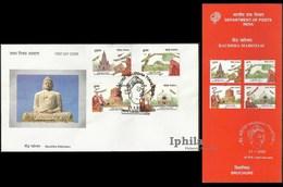 Festival Of The Buddha Indian Celebration FDC & Folder Buddhist Buddhism Shakyamuni Gautam Nirvana Buddhismus Gaya - Boeddhisme