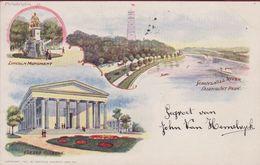 Philadelphia Pennsylvania Very Old Postcard Lincoln Monument Girard College Schuylkill River Fairmount Park 1901 - Philadelphia