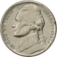 États-Unis, Jefferson Nickel, 5 Cents, 1987, U.S. Mint, Philadelphia, TTB+ - Emissioni Federali