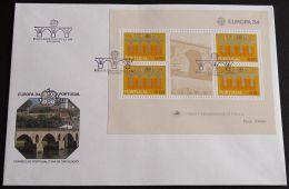PORTUGAL 1984 MI-NR. Block 43 CEPT FDC - Europa-CEPT