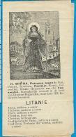 Holycard    Litanie   St. Wiwina   Groot - Bijgaarden - Images Religieuses