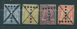 Colonie Timbres De Tunisie   Taxe De 1888/98  N°14  A 17  Oblitérés - Tunisia (1888-1955)