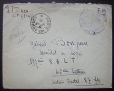 1939 Lettre En Franchise Militaire Cachet Médecin Pour Gabriel Bonpun 197eme R.A.L.T 42eme Batterie - Marcophilie (Lettres)