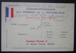1939 Carte En Franchise De Pau Sous Enveloppe Pour Gabriel Bonpun 197eme R.A.L.T 42eme Batterie - Cartes De Franchise Militaire