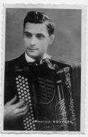 MAURICE NOUVEAU ACCORDEONISTE PHOTO DEDICACEE 1952 - Autographs
