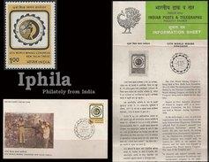 World Mining Congress 1984 Indien Inde FDC Folder  Miners Mines Geology Gems Geologie La Mine Die Mine - Geology