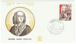 Monaco // FDC // 1978 // Antonio Vivaldi - FDC