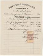 Invoice * Portugal * Lisboa * 1895 * Armazem De Ferragens, Quinquilherias E Calçado - Portugal