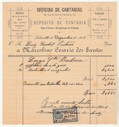 Invoice * Portugal * Lisboa * 1908 * Oficina De Cantarias - Portugal