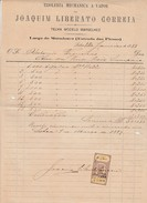 Invoice * Portugal * Lisboa * 1889 * Tijoleria Mechanica A Vapor - Portugal