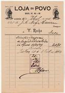 Invoice * Portugal * Lisboa * 1895 * Loja Do Povo - Portugal