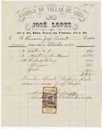 Invoice * Portugal * Lisboa * 1880 * Fabrica De Vellas De Cera - Portugal