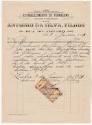 Invoice * Portugal * Lisboa * 1889 * Estabelecimento De Ferragens - Portugal