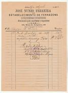 Invoice * Portugal * Lisboa * 1894 * Estabelecimento De Ferragens - Portugal