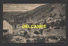DF / 48 LOZÈRE / LE PONT DE MONTVERT / CENTRE DU VILLAGE, LE PONT ET L'HORLOGE / CIRCULÉE EN 1931 - Le Pont De Montvert