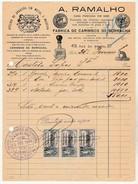 Invoice * Portugal * Lisboa * 1931 * A. Ramalho * Fabrica De Carimbos De Borracha - Portugal
