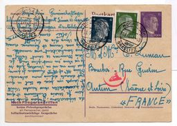 - POSTKART CAMP DE CONCENTRATION HOCHGARTH GRASLITZ Pour AUTUN (Saône-et-Loire) 23.12.1943 - A ETUDIER - - Briefe U. Dokumente