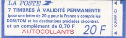 """1506a COMPOSITE BRIAT - """"A"""" Sans Accent - CADRE BLEU S/ COUVER. + N° Sur MARGE - Booklets"""