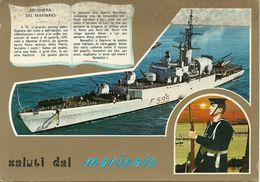 """Fregata """"Carlo Margottini"""", F 595 Marina Militare Italiana E Preghiera Del Marinaio - Guerra"""