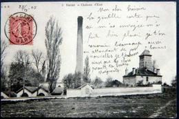 51 REIMS CHATEAU D'EAU ET CHEMINEE  USINE INDUSTRIE CARTE 1905 - Reims